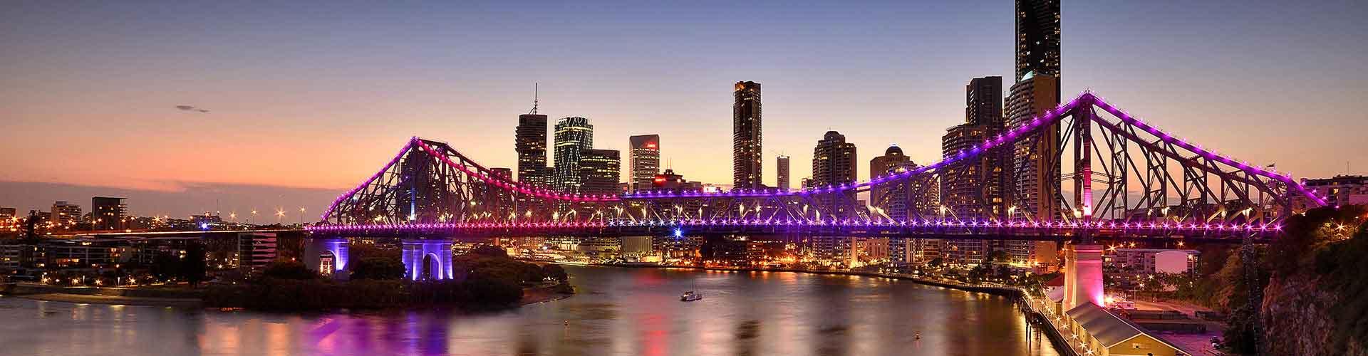 Brisbane - Campamentos en el distrito New Farm. Mapas de Brisbane, Fotos y Comentarios para cada campamento en Brisbane.
