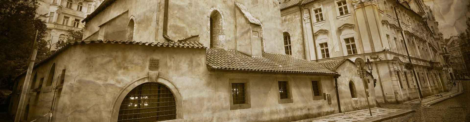 Praga - Albergues cerca a Sinagoga Vieja-Nueva. Mapas de Praga, Fotos y Comentarios para cada Albergue en Praga.