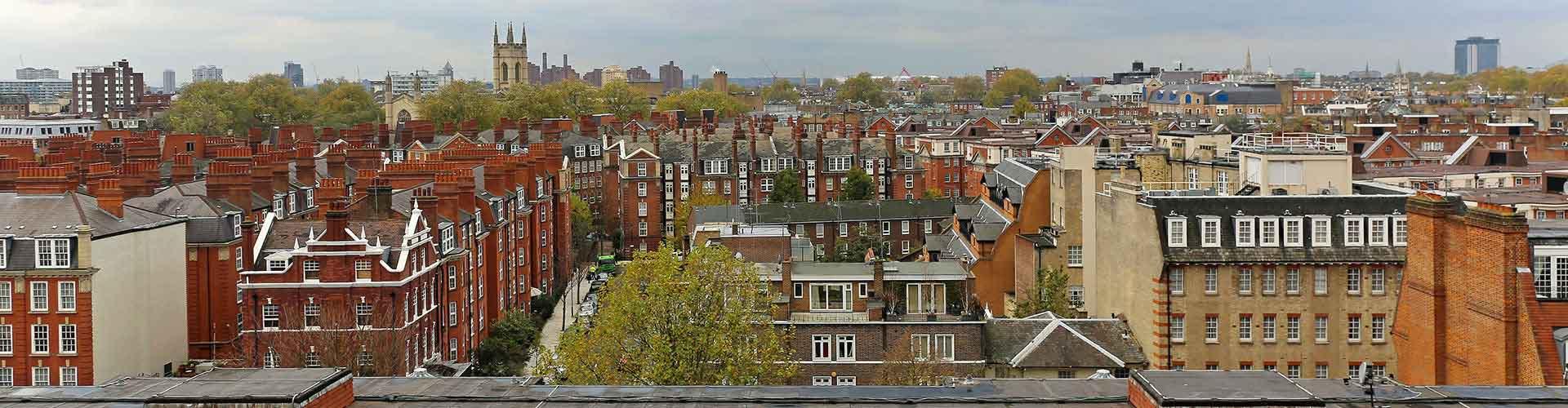 Londres - Albergues en el distrito Sur de Kensington . Mapas de Londres, Fotos y Comentarios para cada Albergue en Londres.