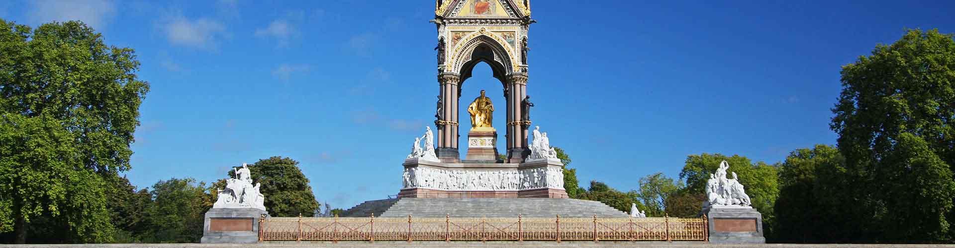 Londres - Albergues cerca a Albert Memorial. Mapas de Londres, Fotos y Comentarios para cada Albergue en Londres.