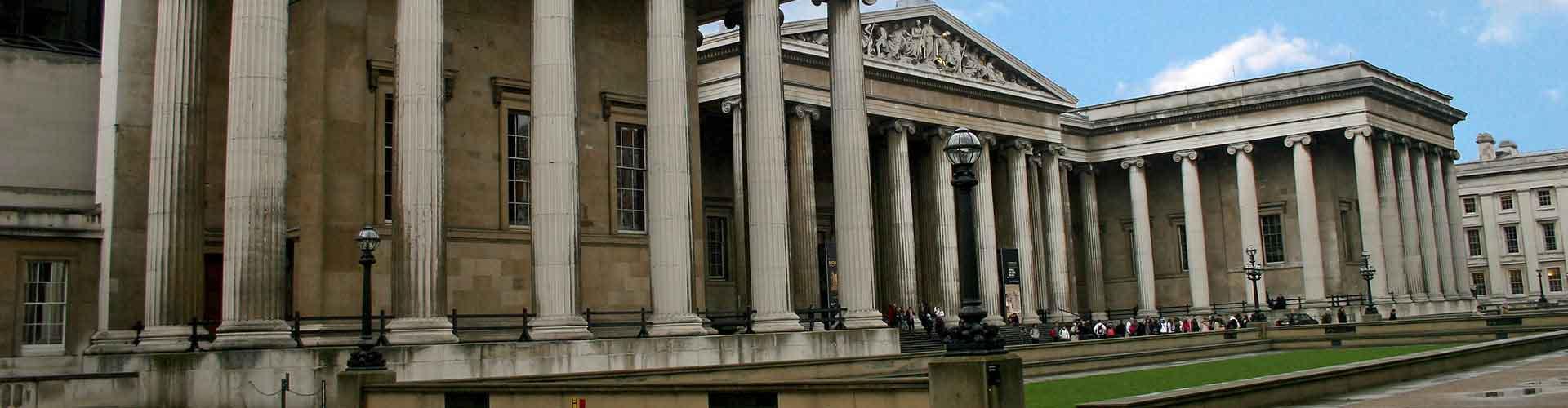 Londres - Albergues cerca a British Museum. Mapas de Londres, Fotos y Comentarios para cada Albergue en Londres.