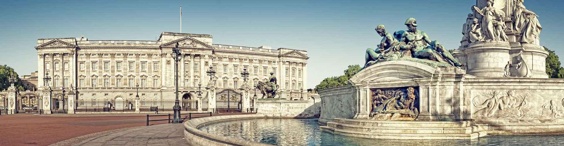 Londres - Albergues cerca a El Palacio de Buckingham. Mapas de Londres, Fotos y Comentarios para cada Albergue en Londres.