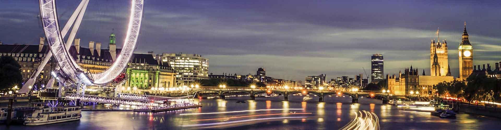 Londres - Albergues cerca a Ojo de Londres. Mapas de Londres, Fotos y Comentarios para cada Albergue en Londres.