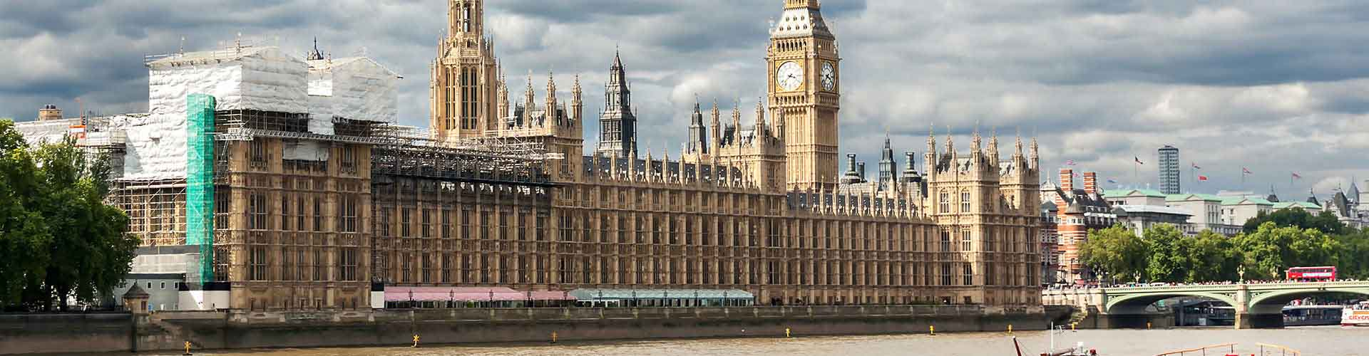 Londres - Albergues cerca a Palacio de Westminster. Mapas de Londres, Fotos y Comentarios para cada Albergue en Londres.