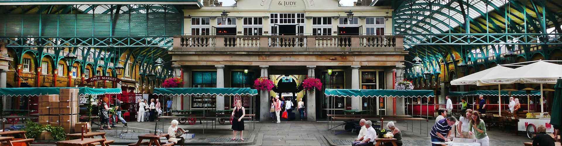 Londres - Albergues cerca a Covent Garden Piazza. Mapas de Londres, Fotos y Comentarios para cada Albergue en Londres.