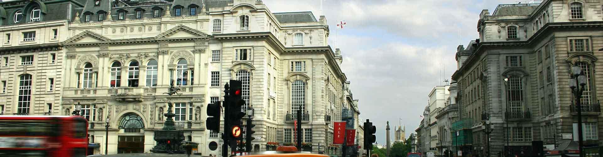 Londres - Albergues cerca a Piccadilly Circus. Mapas de Londres, Fotos y Comentarios para cada Albergue en Londres.