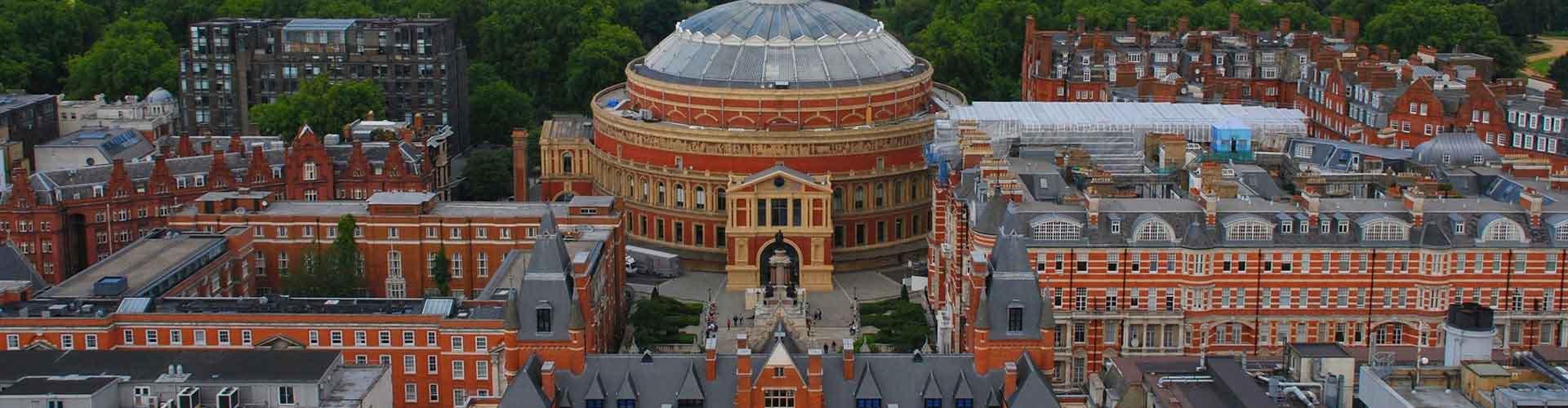 Londres - Albergues cerca a Royal Albert Hall. Mapas de Londres, Fotos y Comentarios para cada Albergue en Londres.