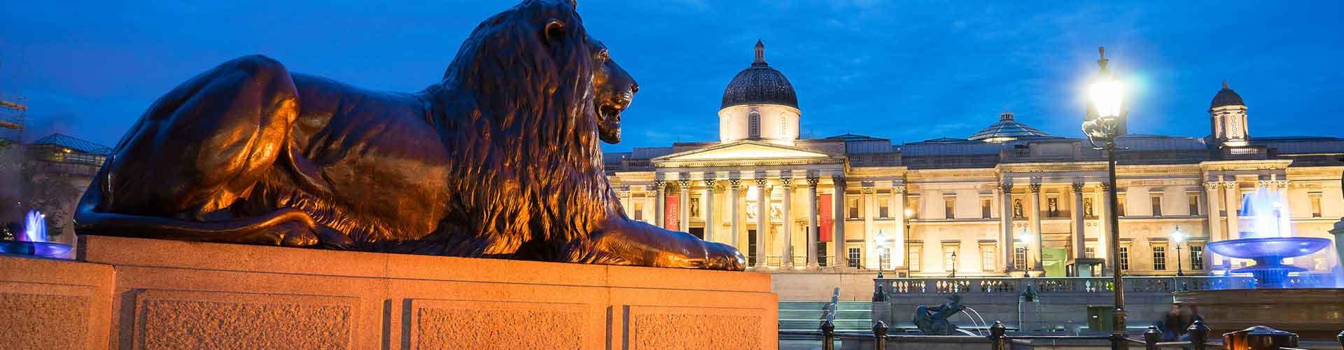 Londres - Albergues cerca a Trafalgar Square. Mapas de Londres, Fotos y Comentarios para cada Albergue en Londres.
