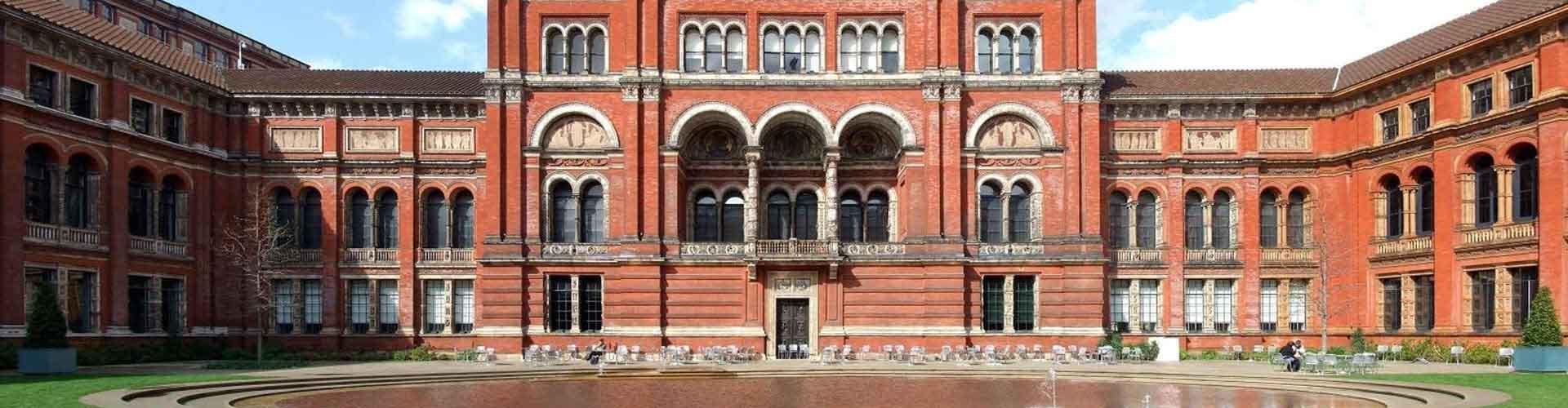 Londres - Albergues cerca a Victoria and Albert Museum. Mapas de Londres, Fotos y Comentarios para cada Albergue en Londres.