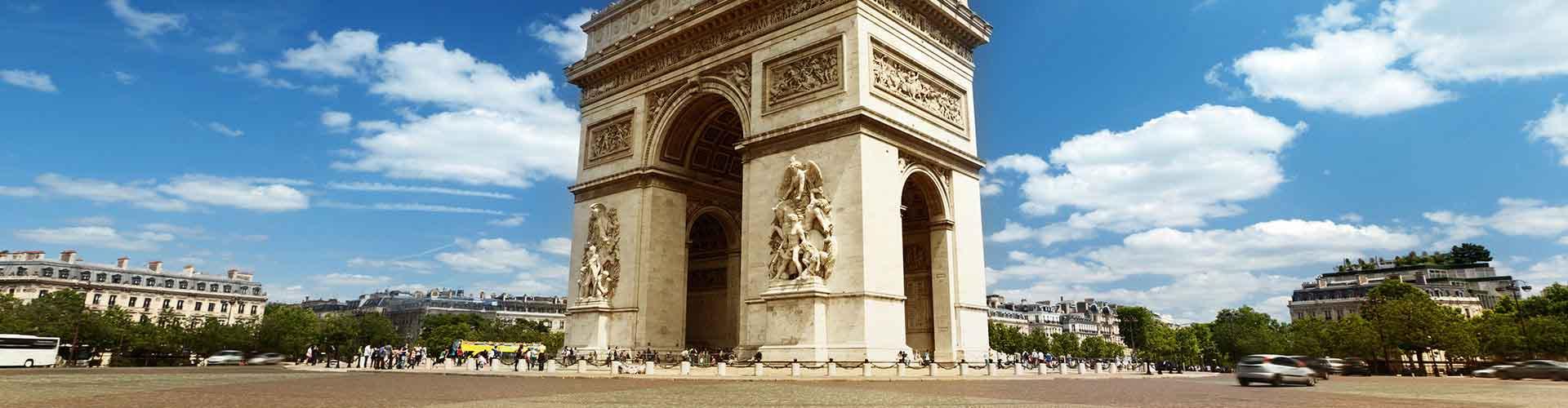 París - Albergues cerca a Arco del Triunfo. Mapas de París, Fotos y Comentarios para cada Albergue en París.