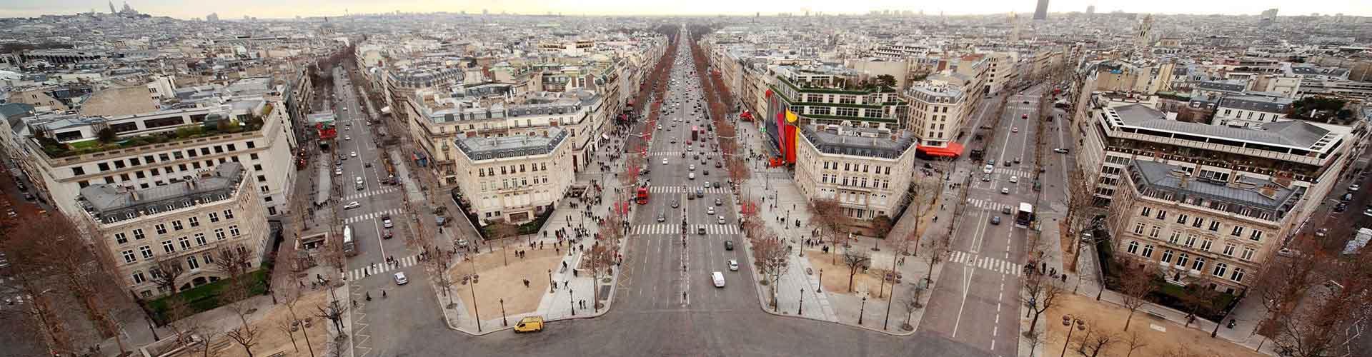 París - Albergues cerca a Boulevard Haussmann. Mapas de París, Fotos y Comentarios para cada Albergue en París.