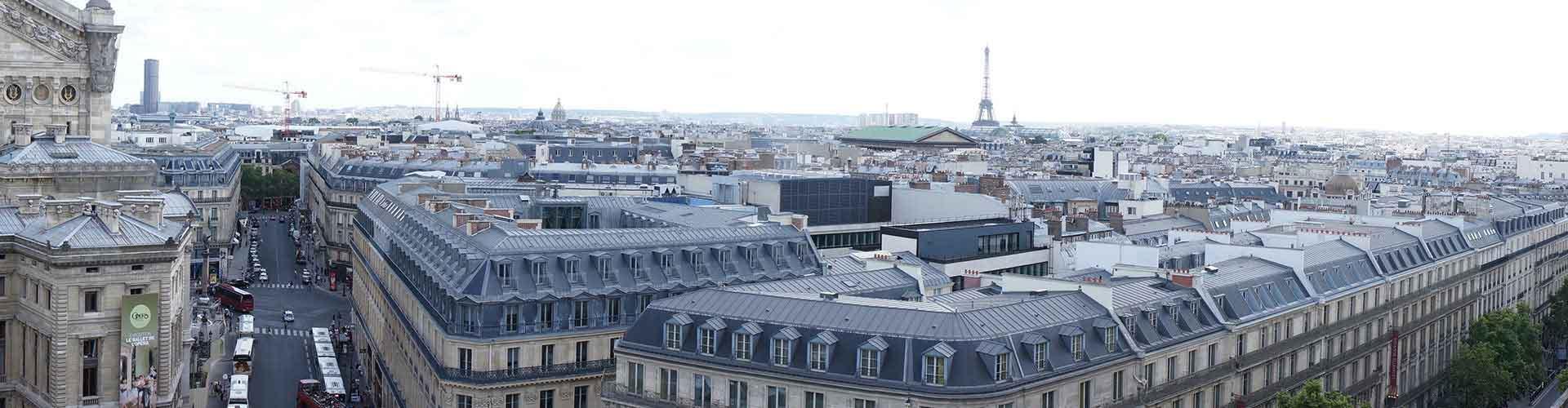 París - Albergues cerca a Galeries Lafayette. Mapas de París, Fotos y Comentarios para cada Albergue en París.