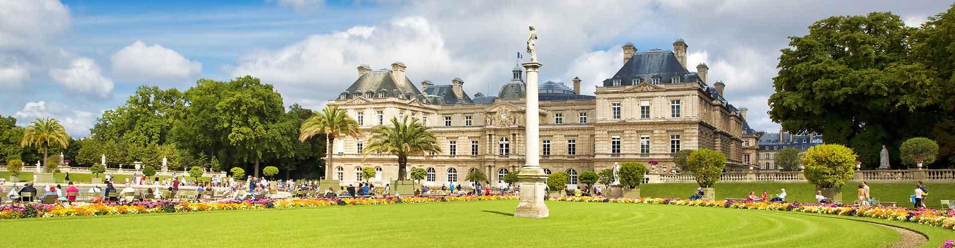 París - Albergues cerca a Jardin de Luxembourg. Mapas de París, Fotos y Comentarios para cada Albergue en París.