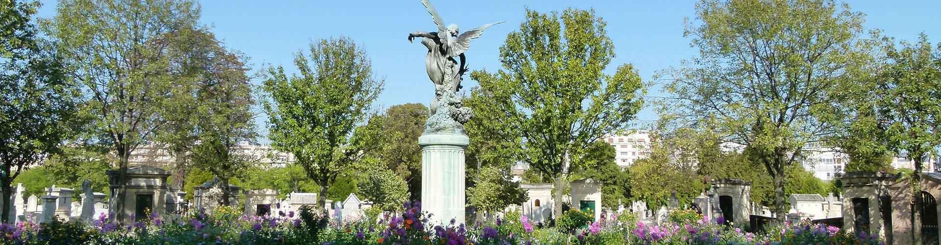 París - Albergues cerca a El cementerio de Montparnasse. Mapas de París, Fotos y Comentarios para cada Albergue en París.