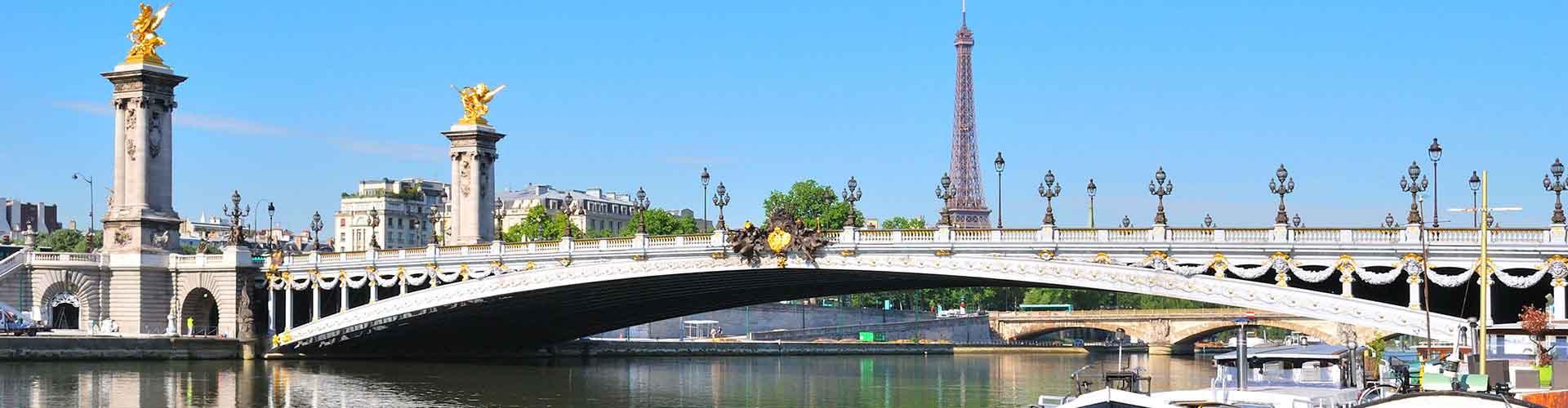 París - Albergues cerca a Pont Alexandre III. Mapas de París, Fotos y Comentarios para cada Albergue en París.