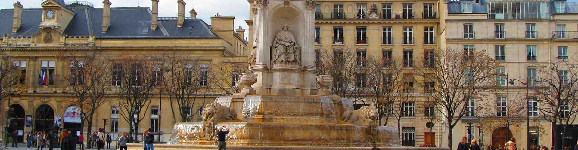 París - Albergues cerca a Saint-Sulpice. Mapas de París, Fotos y Comentarios para cada Albergue en París.