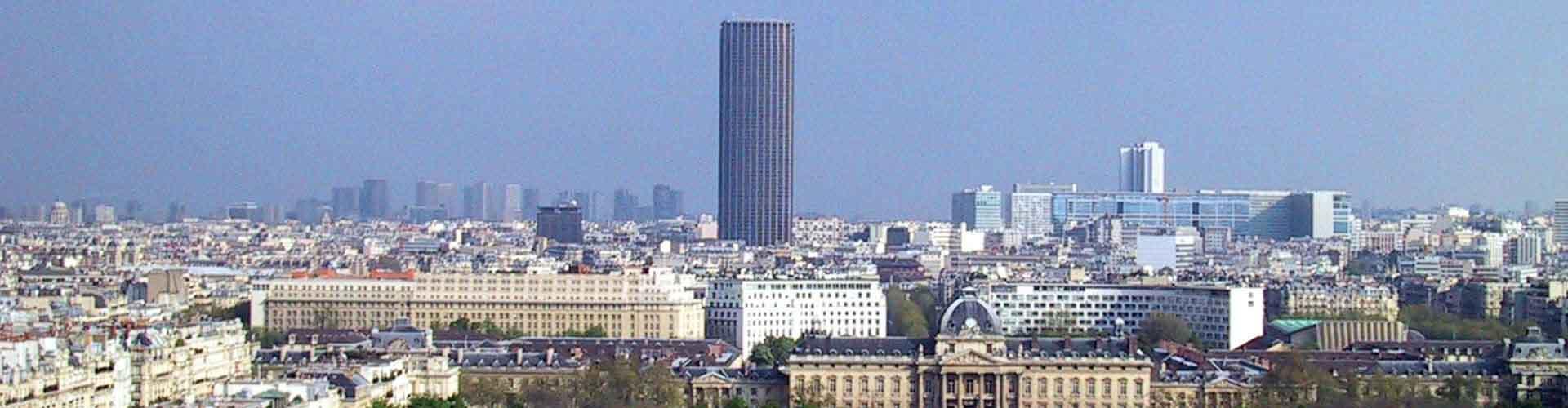 París - Albergues cerca a Tour Montparnasse. Mapas de París, Fotos y Comentarios para cada Albergue en París.