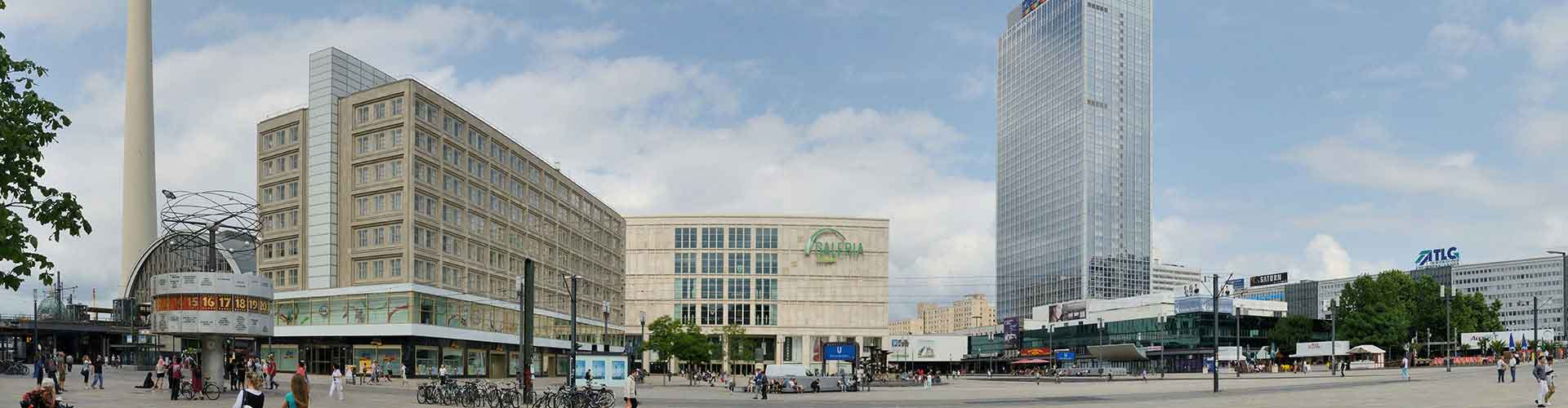 Berlín - Albergues cerca a Alexanderplatz. Mapas de Berlín, Fotos y Comentarios para cada Albergue en Berlín.