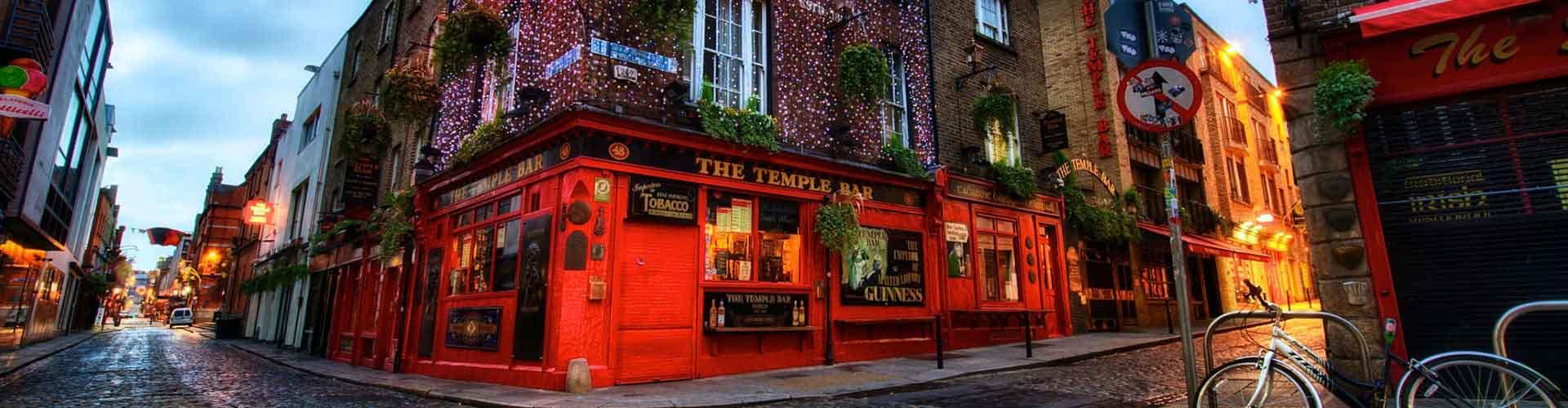Dublín - Albergues en el distrito Temple Bar . Mapas de Dublín, Fotos y Comentarios para cada Albergue en Dublín.