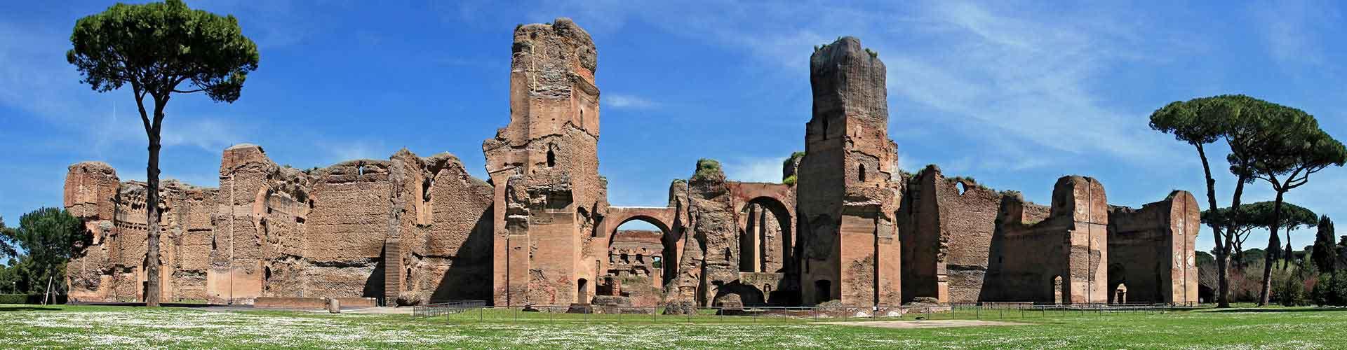 Roma - Albergues cerca a Termas de Caracalla. Mapas de Roma, Fotos y Comentarios para cada Albergue en Roma.