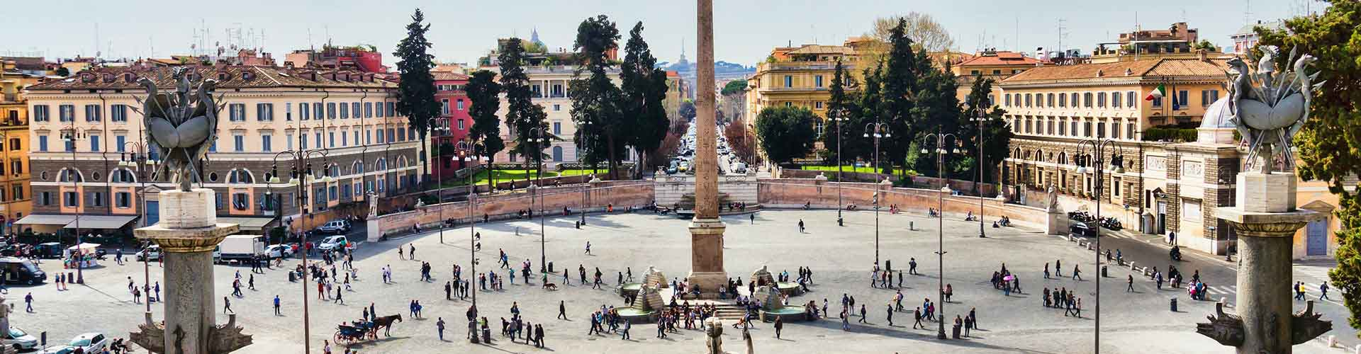 Roma - Albergues cerca a Piazza del Popolo. Mapas de Roma, Fotos y Comentarios para cada Albergue en Roma.