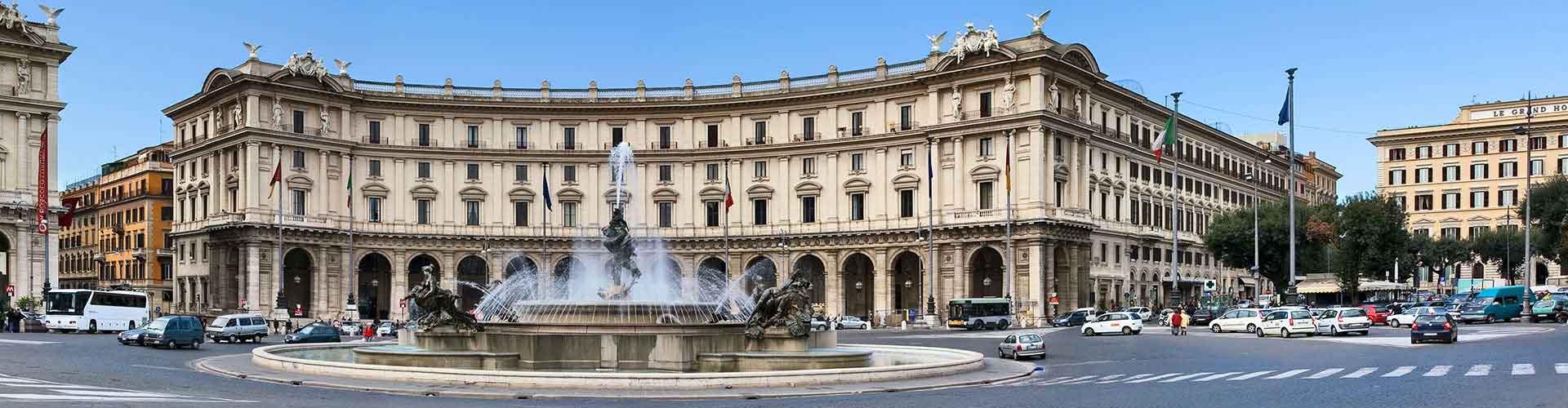 Roma - Albergues cerca a Piazza della Repubblica. Mapas de Roma, Fotos y Comentarios para cada Albergue en Roma.