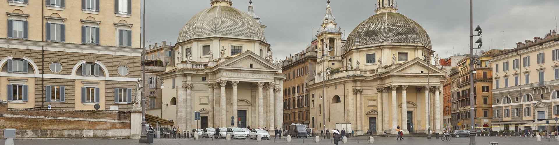 Roma - Albergues cerca a Santa Maria del Popolo. Mapas de Roma, Fotos y Comentarios para cada Albergue en Roma.
