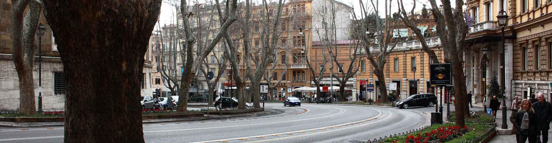 Roma - Albergues cerca a Via Veneto. Mapas de Roma, Fotos y Comentarios para cada Albergue en Roma.