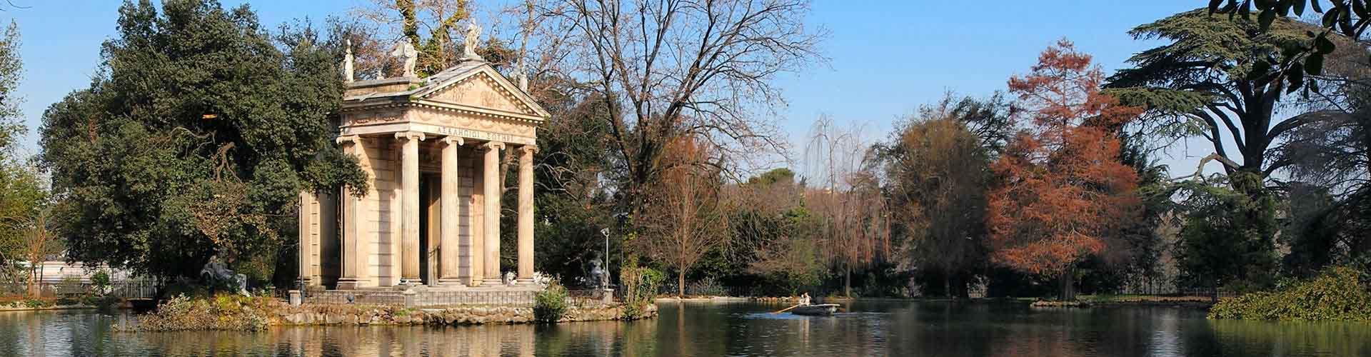 Roma - Albergues cerca a Villa Borghese. Mapas de Roma, Fotos y Comentarios para cada Albergue en Roma.