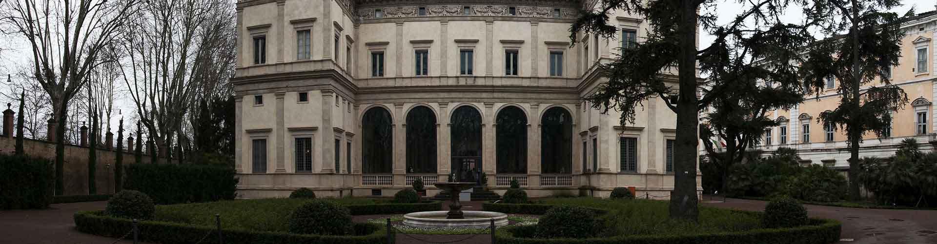 Roma - Albergues cerca a Villa Farnesina. Mapas de Roma, Fotos y Comentarios para cada Albergue en Roma.