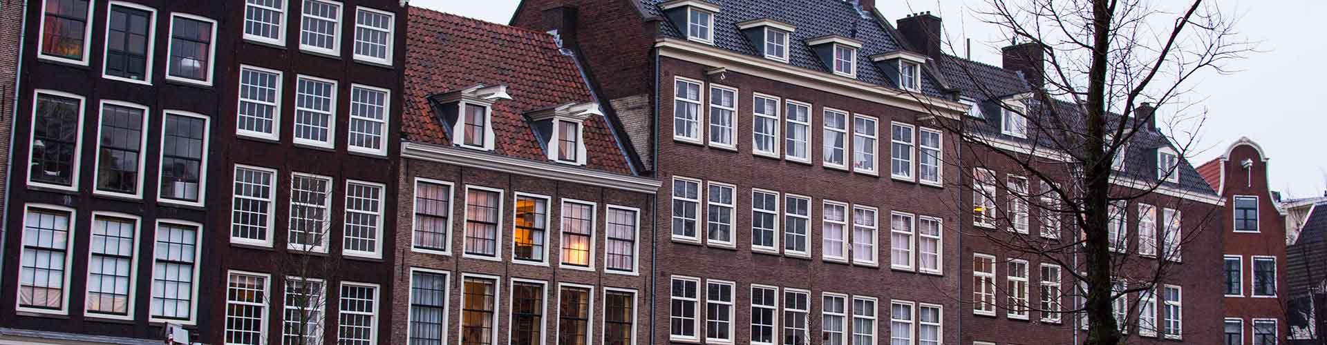 Amsterdam - Albergues cerca a Casa de Ana Frank. Mapas de Amsterdam, Fotos y Comentarios para cada Albergue en Amsterdam.