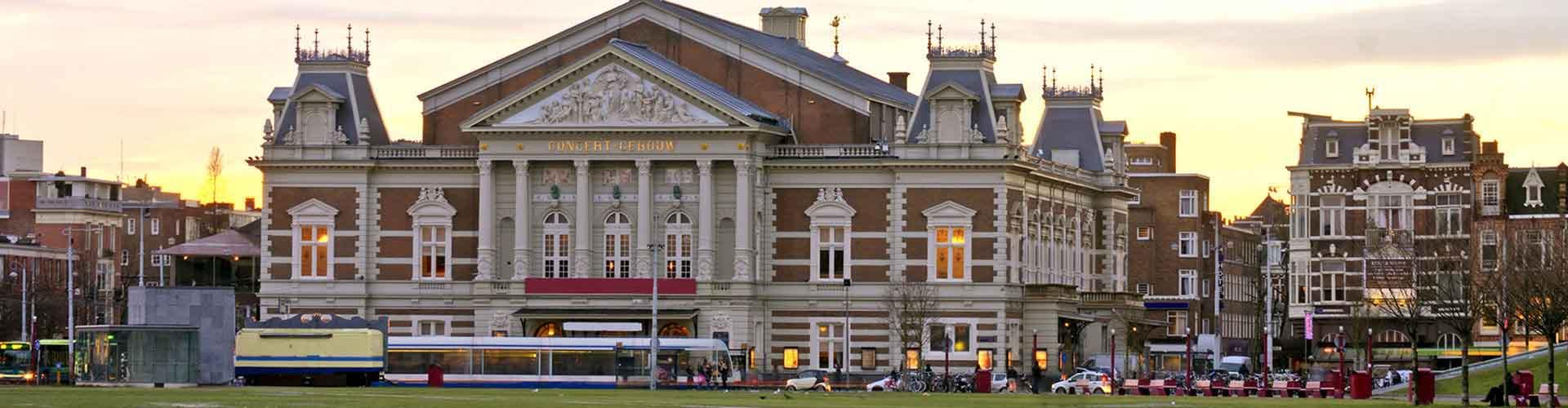 Amsterdam - Albergues cerca a Concertgebouw. Mapas de Amsterdam, Fotos y Comentarios para cada Albergue en Amsterdam.