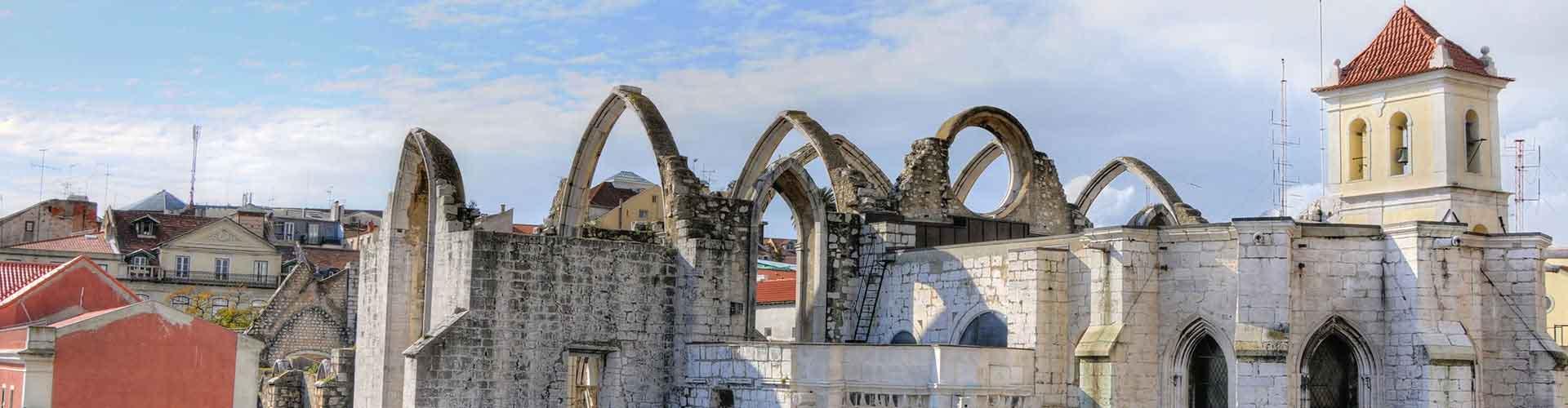 Lisboa - Albergues cerca a Convento do Carmo. Mapas de Lisboa, Fotos y Comentarios para cada Albergue en Lisboa.