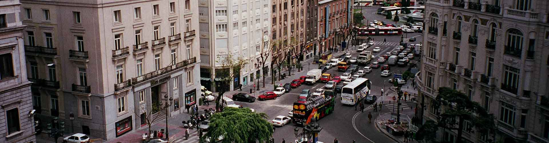 Madrid - Albergues en el distrito Cortes . Mapas de Madrid, Fotos y Comentarios para cada Albergue en Madrid.