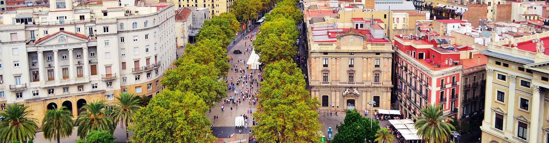 Barcelona - Albergues cerca a Las Ramblas. Mapas de Barcelona, Fotos y Comentarios para cada Albergue en Barcelona.